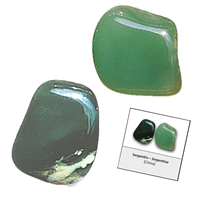 Refill pack Tumble Stones, 24 pieces Serpentine (China Jade) with accessoires