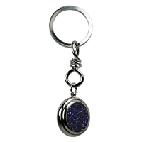 Keychain Sphere Gold Stone violet (synth.)