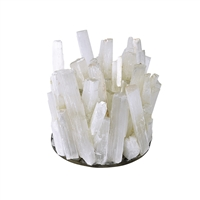 Design Candle Holder Selenite Bars white