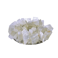 Design Candle Holder Calcite Rhombodrons (white)