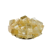 Design Candle Holder Calcite Rhombodron (yellow-brown)