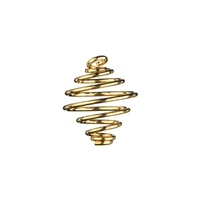 Spiral Pendant 23mm, gold colour (50 pc/VE)