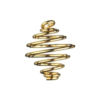 Spiral Pendant 28mm, gold colour (50 pc/VE)