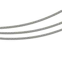 Steel Choker multiple Cords steel coloured, 42cm