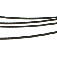 Steel Choker multiple Cords black, 45cm
