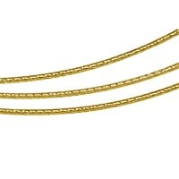 Steel Choker multiple Cords gold coloured, 45cm