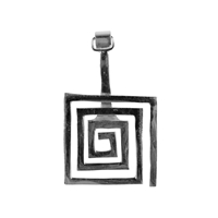 "Donut Holder ""Spiral"" square Silver, for 30mm donuts"