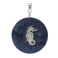 "Donut Holder ""Seahorse"" Silver, for 30 - 40mm donut"