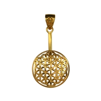 "Donut Holder ""Flower of Life"" Silver gold plated, for 30mm Donut"