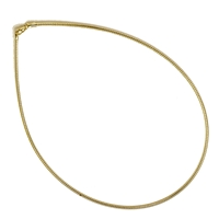 Omega Choker, Silver gold plated, 1,3mm x 40cm