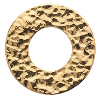 Varius Circle Silver gold plated hammered, 30mm