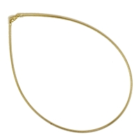 Omega Choker, Silver gold plated, 1mm x 42cm