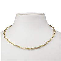 Omega Choker, Silver gold plated, 2mm x 42cm, 3 strings