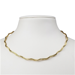 Omega Choker, Silver gold plated, 2mm x 40cm, 3 strings