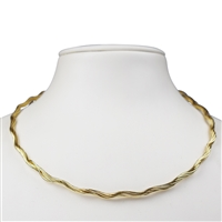 Omega Choker, Silver gold plated, 3,5mm x 42cm, 7 strings