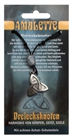 Pewter Amulet Triple Bend