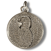 Pewter Amulet Dragon/Phoenix