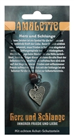 Pewter Amulet Heart of Snake