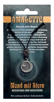 Pewter Amulet Moon and Stars
