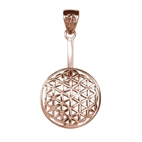 "Donut Holder ""Flower of Life"" Silver rosegold plated, for 40mm donut"