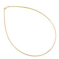 Omega Choker, Silver rosegold plated, 1,0mm x 45cm