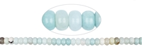 String Button, Amazonite (extra), 2,5-4 x 6-8mm