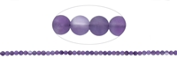 String Beads, Amethyst, frosted, 04mm