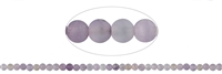 String Beads, Amethyst (partly Ametrine) light, frosted, 04mm