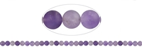 String Beads, Amethyst (partly Ametrine) light, frosted, 06mm (38cm)