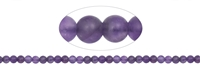 String Beads, Amethyst, frosted, 08mm