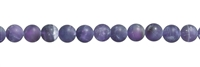 String Beads, Amethyst, frosted, 10mm