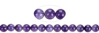 String Beads, Amethyst (lilac), 10mm