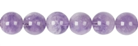 String Beads, Amethyst (lilac), 12mm