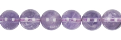String Beads, Amethyst (light), 12mm