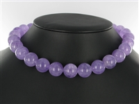 String Beads, Amethyst (lilac), 16mm