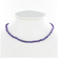 String Beads, Amethyst AA, facetted, 4mm