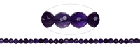 String Beads, Amethyst, faceted, 06mm (39cm)