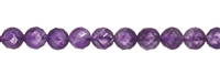 String Beads, Amethyst, faceted, 08mm (38cm)