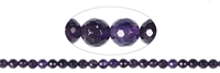 String Beads, Amethyst AA, facetted, 08mm (39cm)