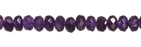 String Button, Amethyst, 6mm, faceted
