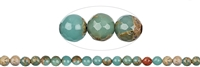 String Beads, Anhydrite in Matrix, faceted, 08mm