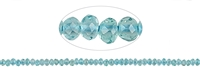 String Button, Apatite (blue), appr. 02 x 03mm