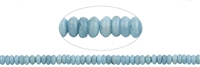 String Button, Aquamarine, (partly colourfully waxed - not fading!), , 05 x 08mm