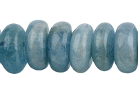 String Button, Aquamarine, 05-06 x 11-12mm