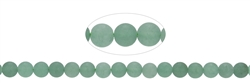String Beads, Aventurine green, matt, 06mm