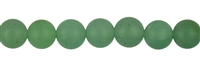 String Beads, Aventurine, frosted, 10mm