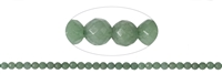 String Beads, Green Quartz, facetted, 08mm
