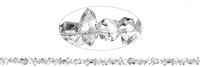 String Double endings, Rock Crystal (Herkimer Type, Pakistan) natural, side drilled, 03-04 x 06-09mm