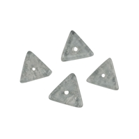 String Triangle flat, Rock Crystal frosted, 03 x 11mm
