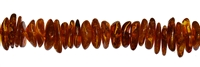 String Chips, Amber, cognac, appr. 02 - 04 x 08 -15mm